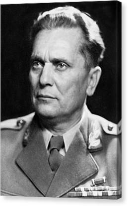Portrait Of Marshal Tito Canvas Print by Underwood Archives