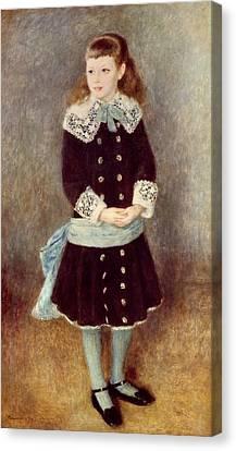 Portrait Of Martha Berard Canvas Print by Pierre-Auguste Renoir