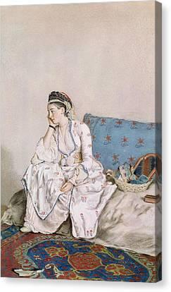 Portrait Of Mary Gunning Canvas Print by Jean-Etienne Liotard