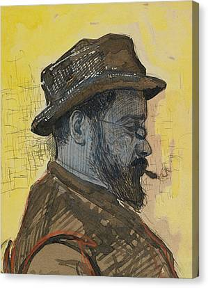 Portrait Of Maximilien Luce Canvas Print by Paul Signac