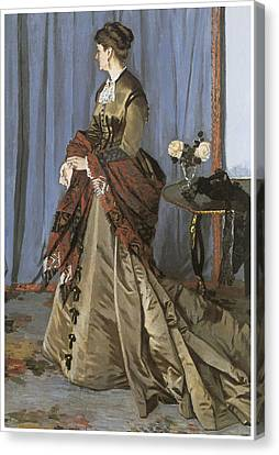 Portrait Of Mrs. Gaudibert Canvas Print by Claude Monet