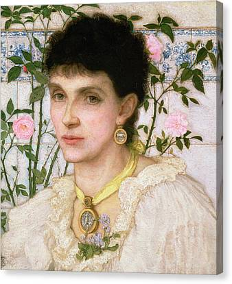 Portrait Of Mrs George Henry Boughton Canvas Print by English School