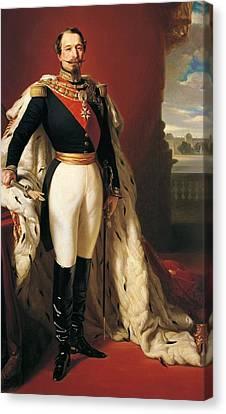 Portrait Of Napoleon IIi Louis Napoleon Bonaparte Canvas Print by Franz Xaver Winterhalter