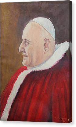 Portrait Of Pope John Xxiii - Papa Giovanni Xxiii Canvas Print by Mario Zampedroni
