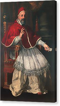Portrait Of Pope Urban Viii Canvas Print by Mountain Dreams