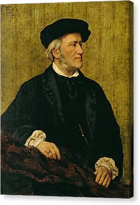 Portrait Of Richard Wagner Canvas Print by Giuseppe Tivoli