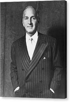 Portrait Of Robert Lehman Canvas Print by Underwood Archives