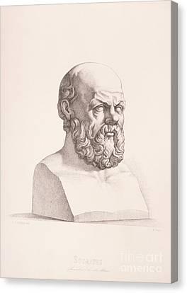 Portrait Of Socrates Canvas Print by CC Perkins
