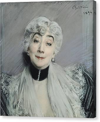 Portrait Of The Countess De Martel De Janville, Known As Gyp 1850-1932, 1894 Canvas Print by Giovanni Boldini