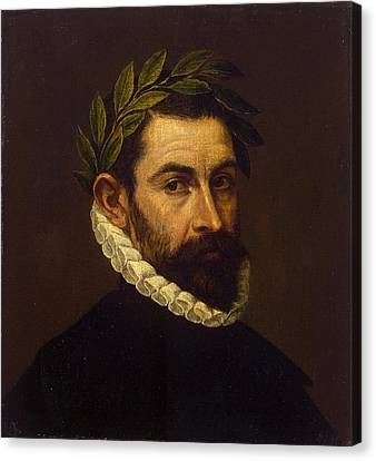 Portrait Of The Poet Alonso Ercilla Y Zuniga Canvas Print by Celestial Images