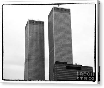 Portrait Of The Towers 1990s Canvas Print by John Rizzuto