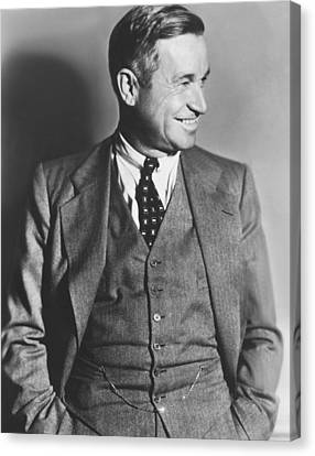 Portrait Of Will Rogers Canvas Print by Underwood Archives