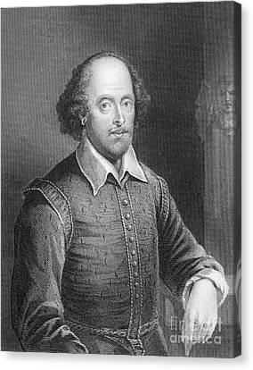 Portrait Of William Shakespeare Canvas Print by English School