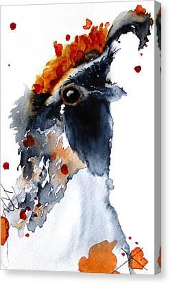 Portrait Posing Canvas Print by Dawn Derman