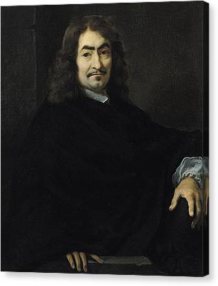 Portrait Presumed To Be Rene Descartes Canvas Print by Sebastien Bourdon