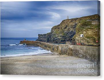 Portreath Before The Storms Canvas Print by Chris Thaxter