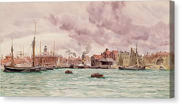 Portsmouth Harbor Canvas Print by John Brett