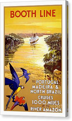 Portugal Vintage Travel Poster Canvas Print by Jon Neidert