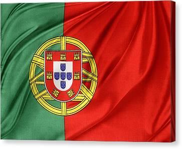 Portuguese Flag Canvas Print by Les Cunliffe