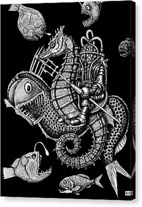 Poseidon Canvas Print by Vitaliy Gonikman