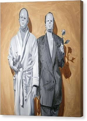 Post Modern Intimacy I Canvas Print by Alison Schmidt Carson