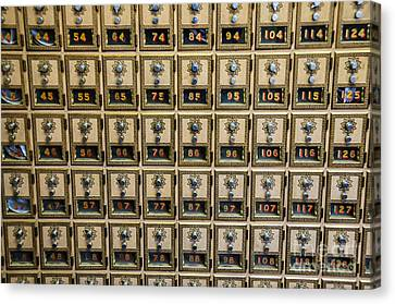 Post Office Combination Lock Boxes Canvas Print by Sue Smith