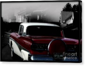 Postcard From The Fifties  Canvas Print by Steven  Digman