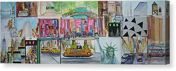 Postcards From New York City Canvas Print by Jack Diamond