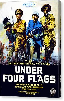 Poster Advertising The Film Under Four Canvas Print by Philip Martiny