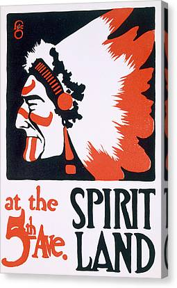 Poster For Spirit Land Canvas Print by Frederic G Cooper