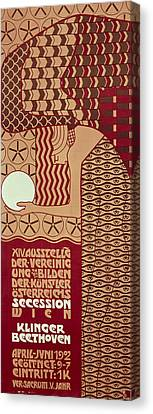 Poster For The 14th Exhibition Of Vienna Secession, 1902 Canvas Print by Alfred Roller