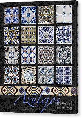 Poster With Colored Portuguese Tile-works  Canvas Print by Heiko Koehrer-Wagner