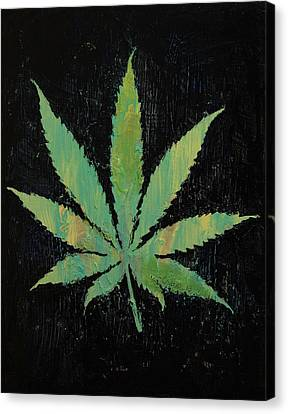 Pot Leaf Canvas Print by Michael Creese