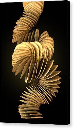 Potato Chip Stack Falling Canvas Print by Allan Swart