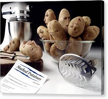Potato Panic Canvas Print by Dick Smolinski