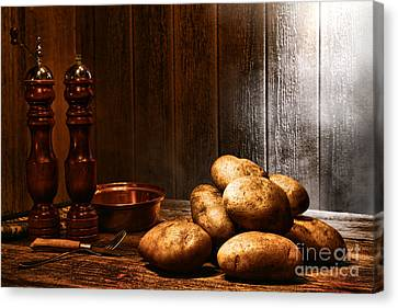 Potatoes Canvas Print by Olivier Le Queinec