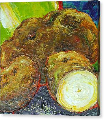 Potatoes Canvas Print by Paris Wyatt Llanso