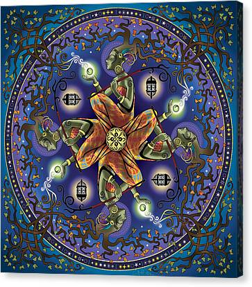 Potential Mandala Canvas Print by Cristina McAllister