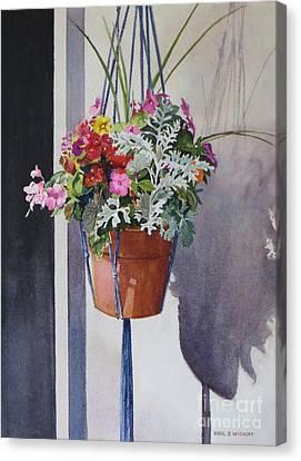 Potted Posies Canvas Print by Karol Wyckoff