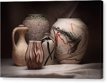 Pottery Still Life Canvas Print by Tom Mc Nemar