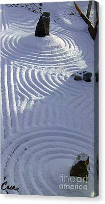 Powder In Zen Two Canvas Print by Feile Case