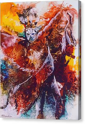 Power Dance I Canvas Print by Patricia Allingham Carlson
