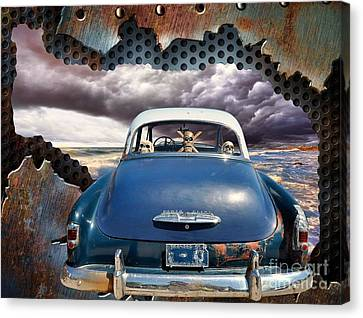 Power Glide Riding The Storm Canvas Print by Liane Wright