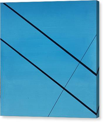 Power Lines 07 Canvas Print by Ronda Stephens