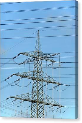Power Lines Canvas Print by Detlev Van Ravenswaay