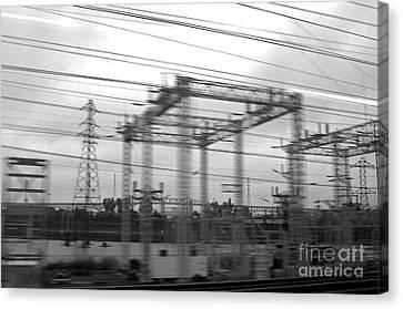 Power Lines Canvas Print by Tony Cordoza