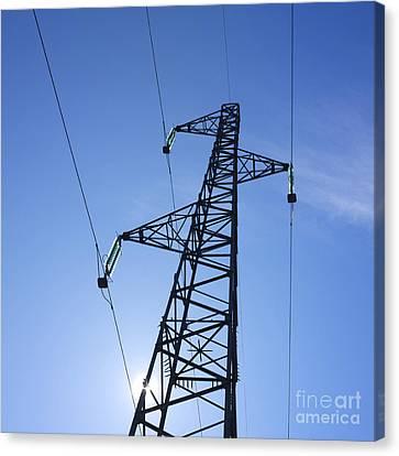 Power Pylon Canvas Print by Bernard Jaubert