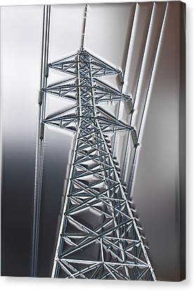 Power Station - Cool Optimized For Metallic Paper Canvas Print by Wendy J St Christopher