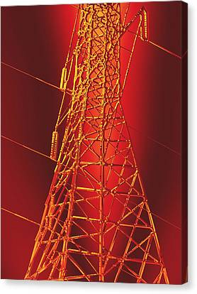 Power Station - Hot Optimized For Metallic Paper Canvas Print by Wendy J St Christopher