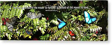 Power To Love Canvas Print by Diane E Berry